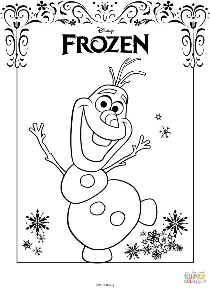 frozen olaf printable coloring pages | Olaf from Frozen coloring page | Free Printable Coloring ...