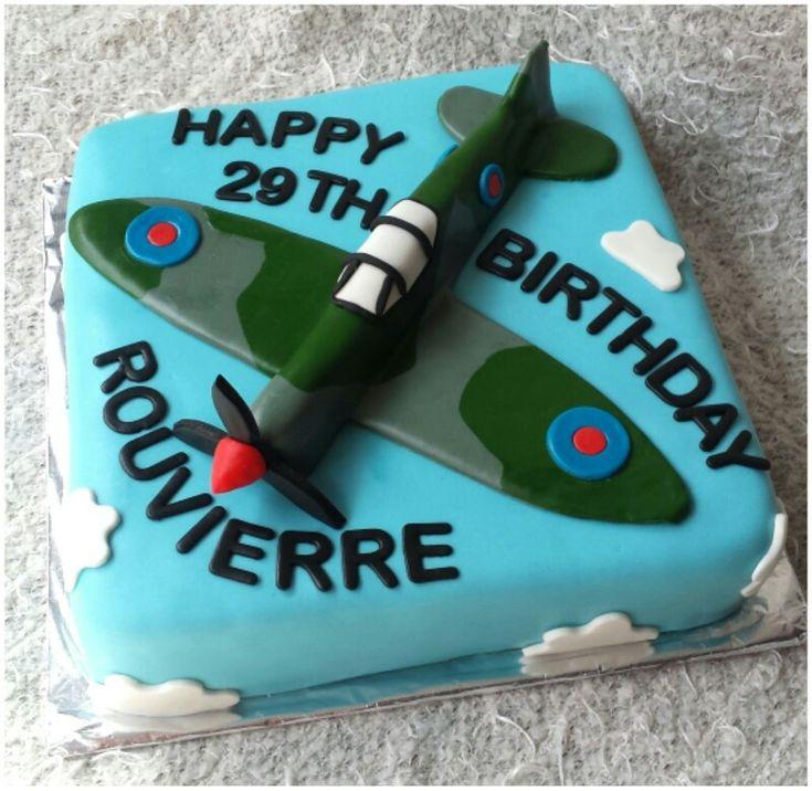Spitfire plane birthday cake