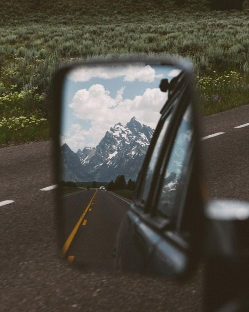 i don't enjoy it when the mountains are in the rear view mirror... my heart stirs going towards them.