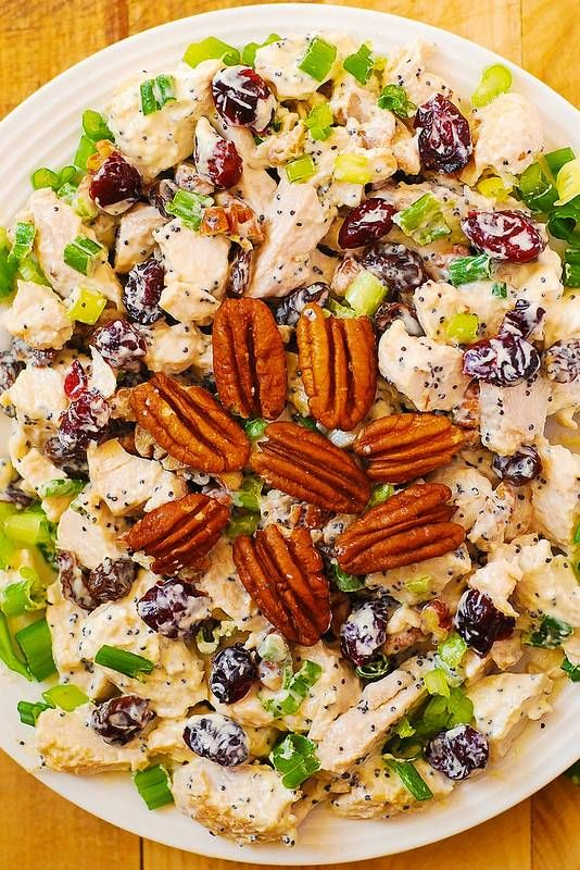 Cranberry Pecan Chicken Salad with Poppy Seed Dressing – Minus onions