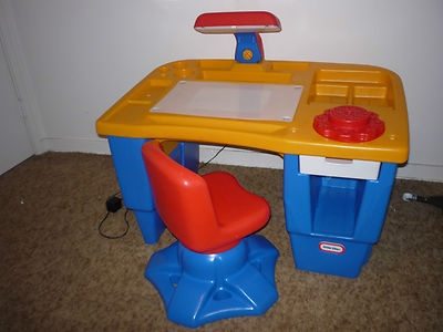 Little Tikes Light Up Desk And Chair Set Eeuc Ebay