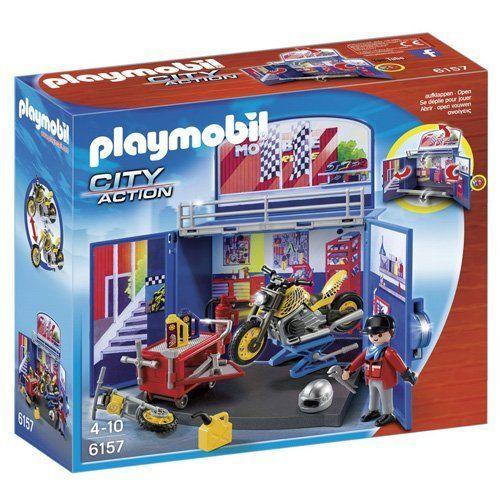 Playmobil – 6157 – Coffre 'Atelier de moto: Dans l'atelier, il y a tout le matériel nécessaire pour customiser la moto ! Comprend : Un…