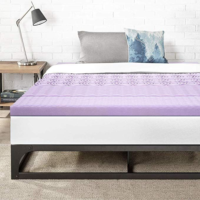 Best Price Mattress Full 3 Inch 5 Zone Memory Foam Bed Topper With