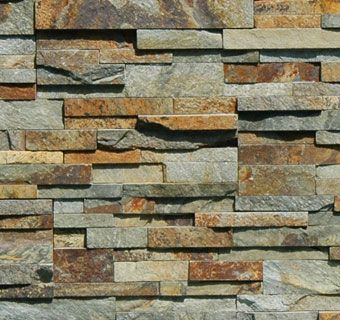 Ochre Rock Panel - natural stacked stone veneer for wall cladding