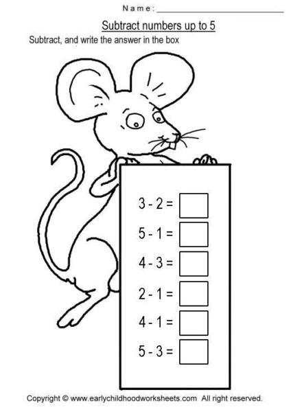 Easy Subtraction Worksheets   Subtraction worksheets, Math ...