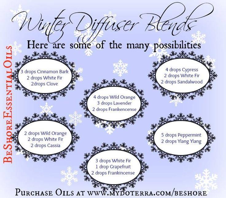 Winter Diffusser Recipes Essential Oils Diffuser Blends