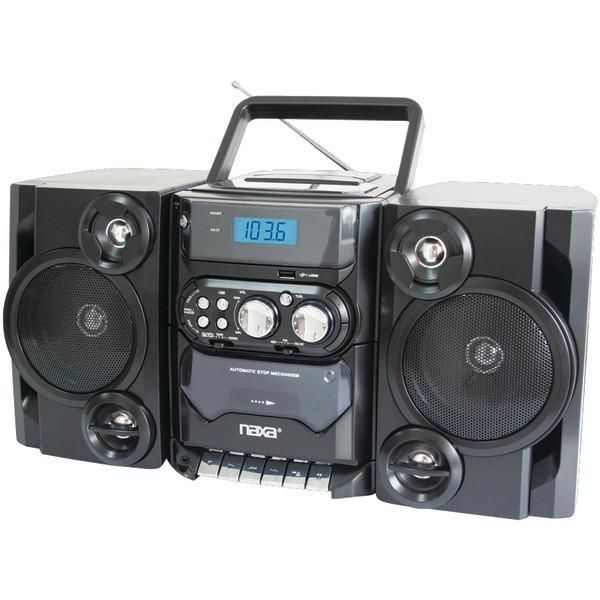Naxa NPB-428 Portable CD//MP3 Player AM//FM Radio Cassette USB//AUX