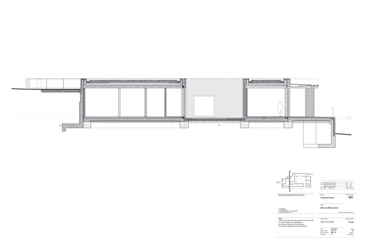Groun floor plan of Fayland House by David Chipperfield Architects. Click above to see larger image.