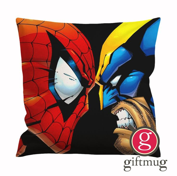Wolverine and Spiderman Angry Cushion Case / Pillow Case