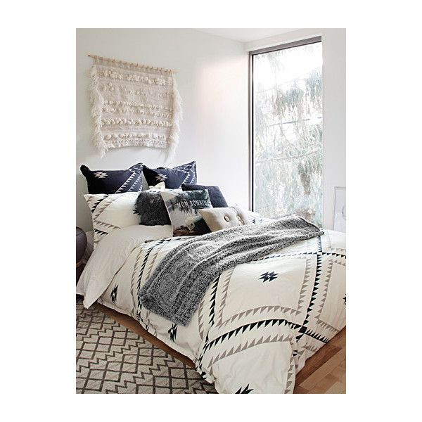 Linen House Mountain diamond duvet cover set ($97) ❤ liked on Polyvore featuring home, bed & bath, bedding, duvet covers, king duvet cover sets, queen duvet cover sets, king size duvet sets, cotton duvet sets and queen duvet set
