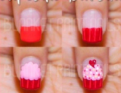 nail-art-uñas-pintadas-decoracion-cupcake-tutorial-paso-a-paso.jpg (464×354)