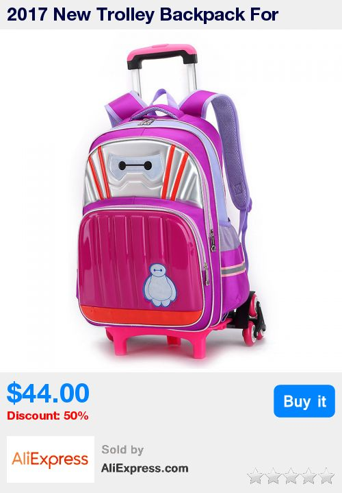 2017 New Trolley Backpack For Children Fashion Cartoon School Wheeled Bag Detachable Backpack For Girls Boys Book Bags mochila * Pub Date: 02:57 Sep 12 2017