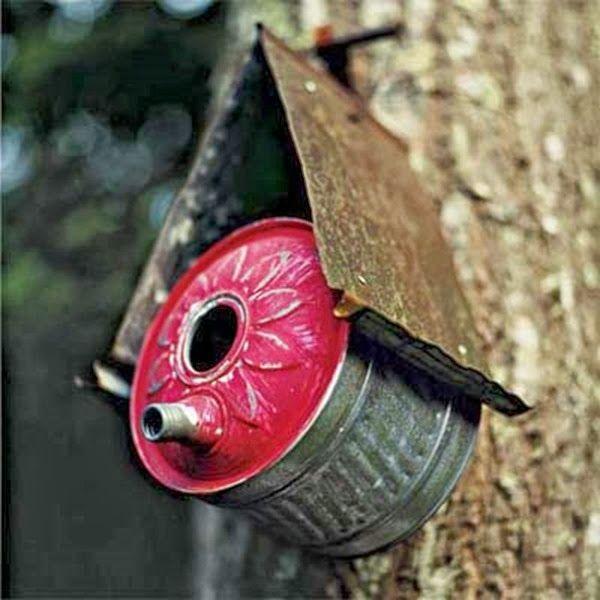 fuel can bird house