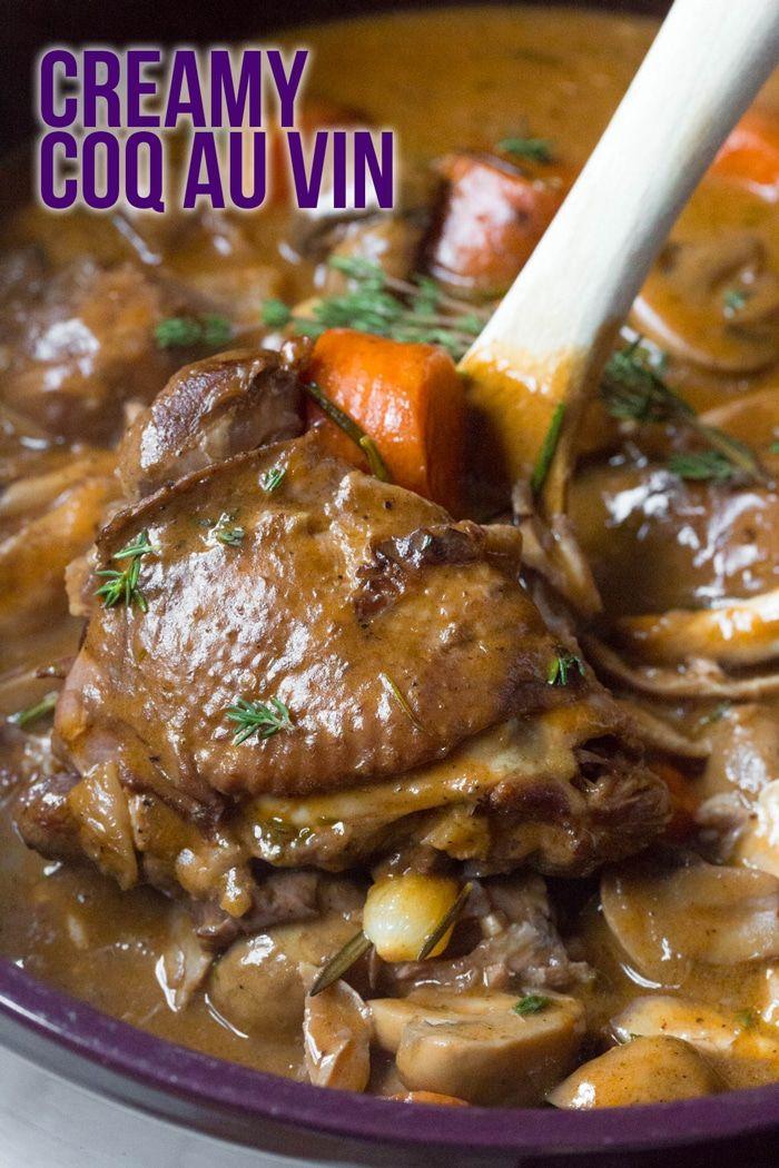 Creamy Coq Au Vin Recipe A Rustic Classic French Chicken Dish With