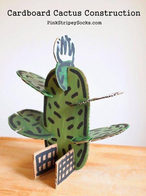 Cardboard cactus construction set