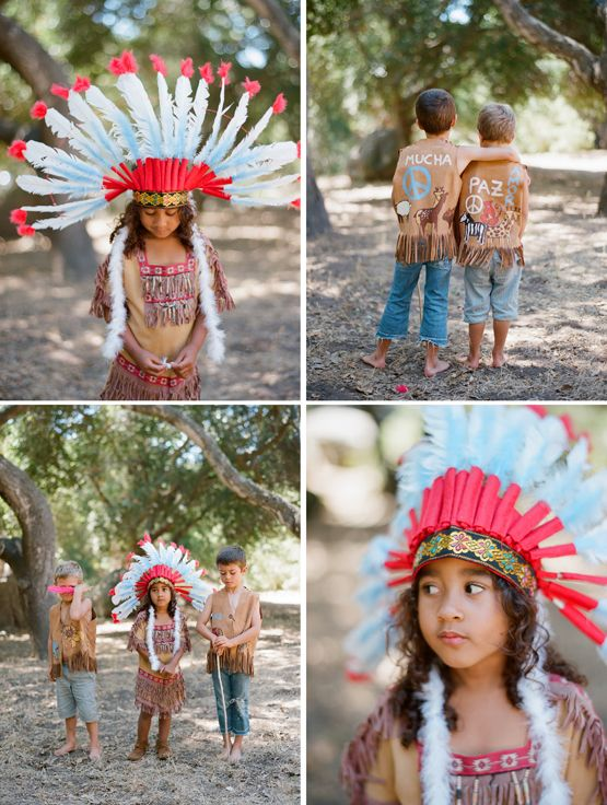 """This reminds me of my kindergarten teacher who had some lil """"cowboy and indian"""" costumes for when any of her pupils would either, forget to bring or didn't buy a costume for Halloween. An she would automatically give any of us """"dark"""" complected kids the """"Indian"""" costumes. >=/"""