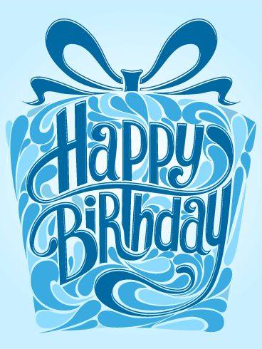 Blue Gift Box Happy Birthday Card Do You Have A Special Man Or Boy In Your Life Who Is Celebrating Use This Happ