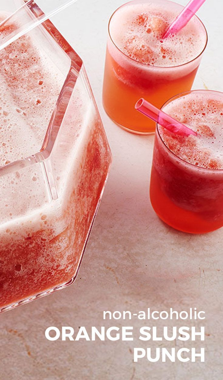 Non-Alcoholic Orange Slush Punch. A refreshingly sweet and tart punch with a citrus twist. This punch takes a little more prep time since it needs to freeze overnight, but it's worth the wait. Trust us! Seriously delicious non-alcoholic drink that you need at your next party!
