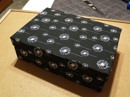 Коробка покрытая тканью