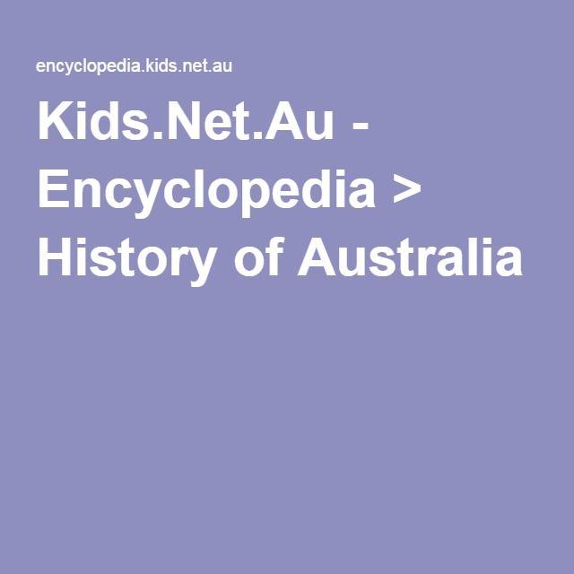 Kids.Net.Au - Encyclopedia > History of Australia