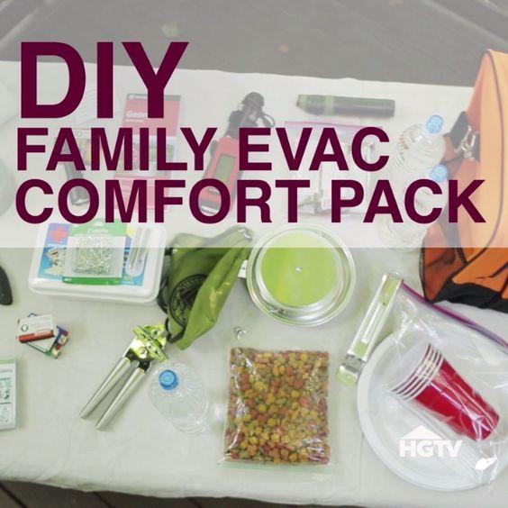 DIY Family Emergency Evacuation Pack
