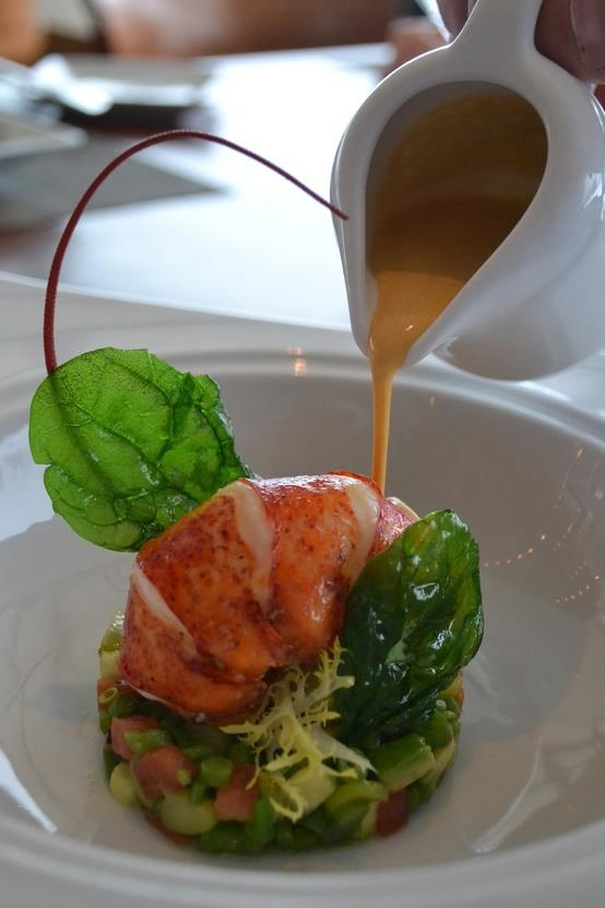 Aqueous Lobster Soup and Salad