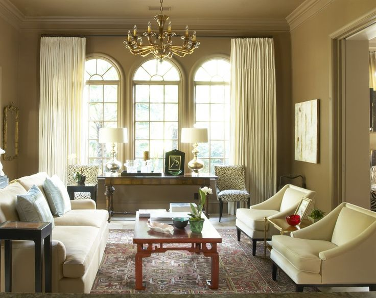 Suzie jan showers modern taupe red french modern living room design with sand beige sofa