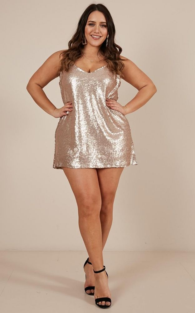 Nights In Vegas Dress In Champagne Sequin Produced in 2020 ...