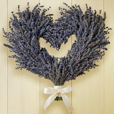 Lavender Heart Wreath #WilliamsSonoma