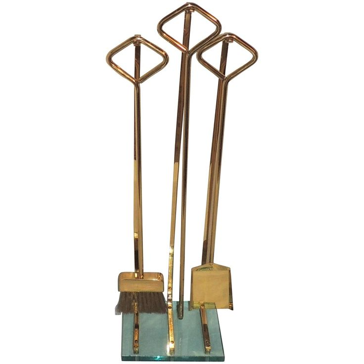 Wonderful Modern Transitional Fire Place Bronze Lucite Fireplace Glass Tool Set
