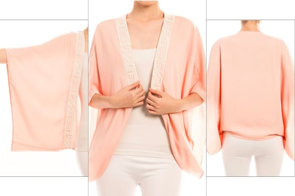 New in Juniper June store. Light Peach Kimono on Sale thru tomorrow!! ShopJuniperJune.com