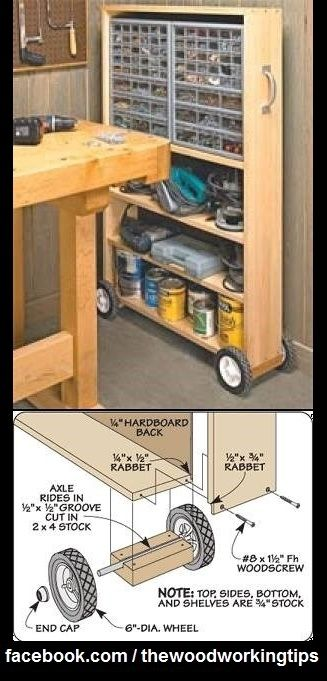 Awesome Pull-Out Storage Case..   WoodworkerZ.com