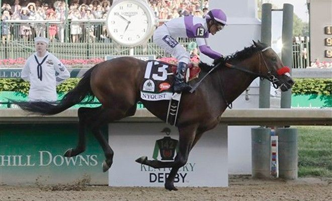 05-07-2016  Nyquist wins Kentucky Derby at Churchill Downs for eighth straight victory
