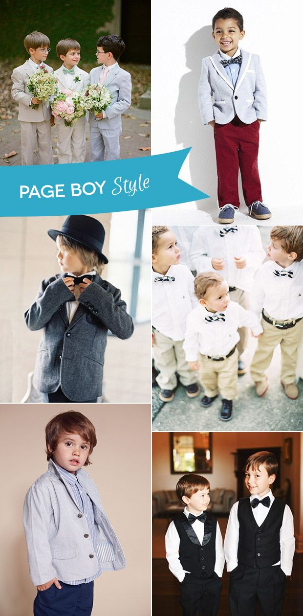 Page Boy Outfits - the best of looks for the little men at your wedding    www.onefabday.com