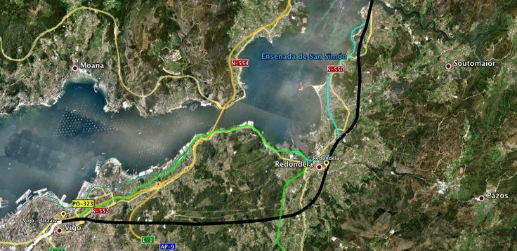 Trazado de la Alta Velocidad en Vigo , Galicia, España