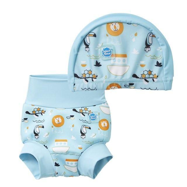 ¡Combina un bañador pañal y un gorro de natación Noah's Ark a juego en un estupendo set de natación! Bebés libres de escapes y calentitos en el agua. Envío gratis a partir de 45 €