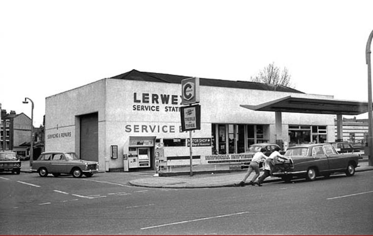 The Garage 1967 where Camden Road Station once stood.