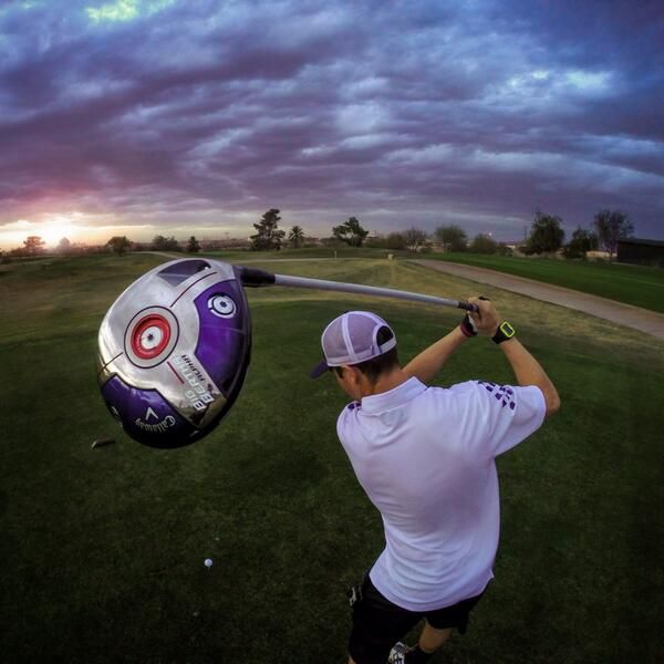 "March 1, 2014: ""(Amazing) photo via Paul Davis. Going #BerthaLong on a GoPro golf shoot,"" Callaway Golf explained."