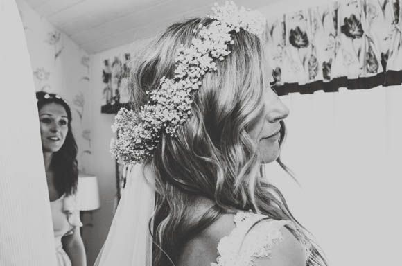 A Gypsophila Floral Crown for a Flower Fairy Inspired Bride...