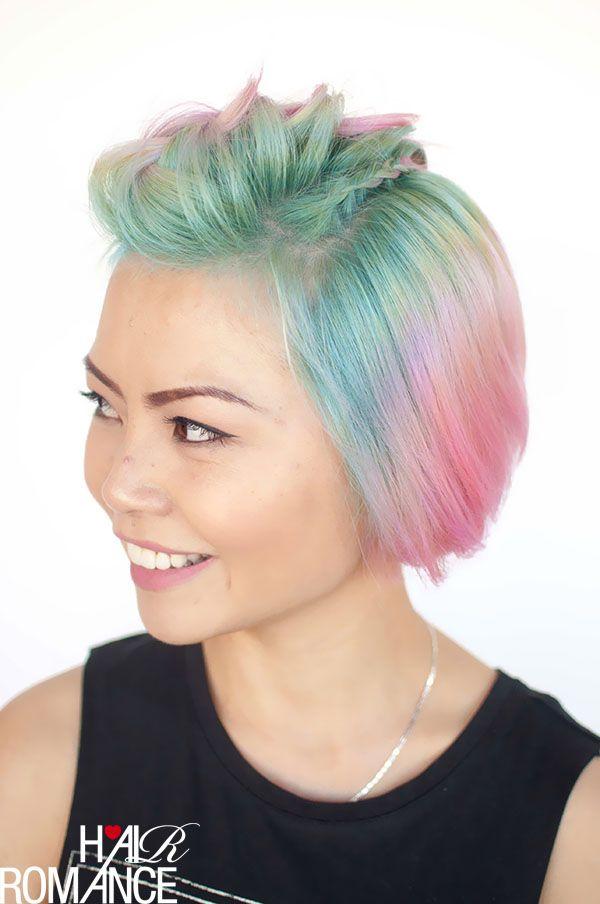 Kurze haare stylen pink