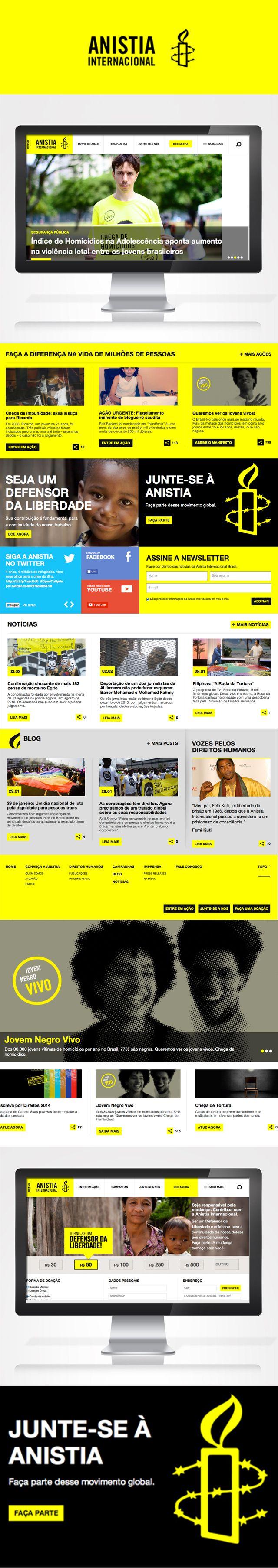 Novo site Anistia Internacional