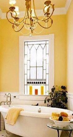Best Cottage Style Yellow Bathrooms Ideas On Pinterest