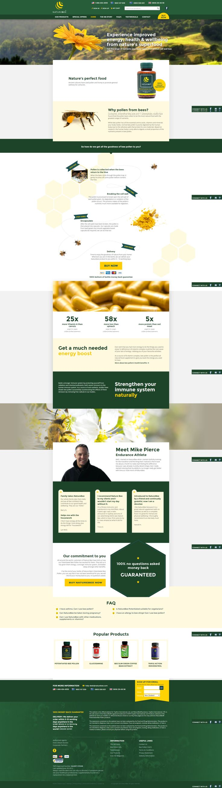 Nature Bee - The art and science of good #websitedesign #website #websiteredesign #webdesign #designinsperation #rethinkyourwebsite #layout #redesign #redesignideas #redesigninspiration #creative #landingpages #beforeafter #responsive #leadgeneration #ecommerce