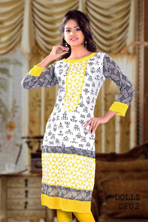 Full Sleeve Long Cut Kurti