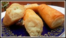 Cigares (ou briouates) pomme de terre-mozzarella