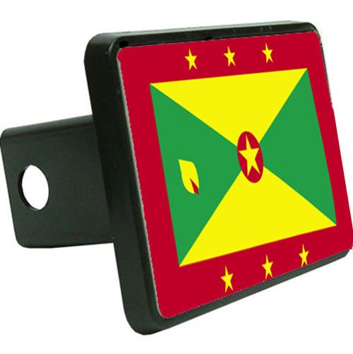 Grenada Flag Trailer Hitch Cover
