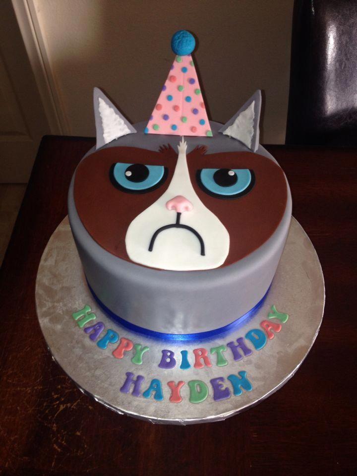 Grumpy Cat Cake Birthdaycakesforcats Grumpy Cat Cakes Cat Cake