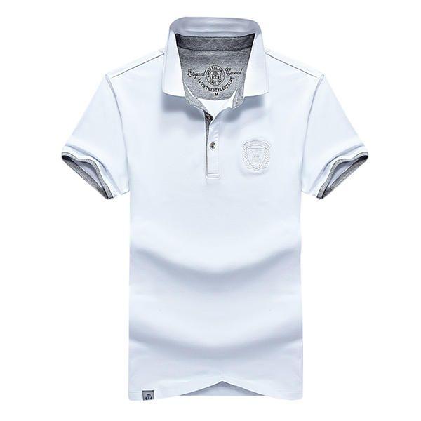 1ec7bd924a9 Summer Casual Lapel Short Sleeved T-shirt Men s Cotton POLO Shirt at  Banggood