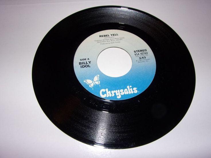 """45"""" Billy Idol: Rebel Yell / Crank Call / 1983 / Excellent #HardRockPunkNewWaveRocknRoll"""