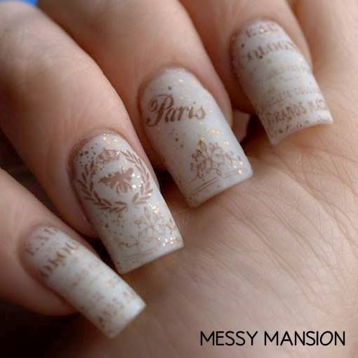 Girly Bits Eggnogaholic mattified and stamped with MM18, by Messy mansion